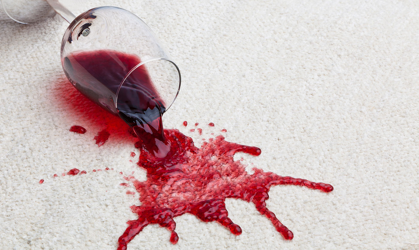 How to remove wine stains from your carpet?